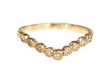 9 Diamond V-ring curved band