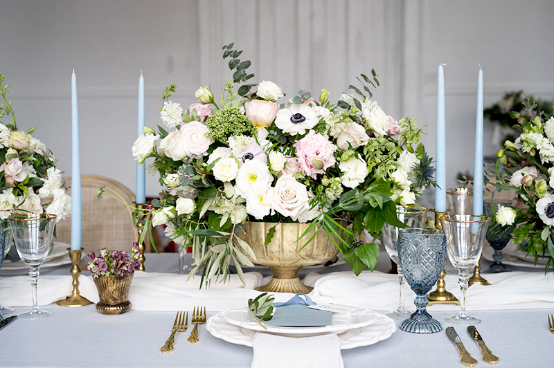 Wedding style inspiration floral arrangement