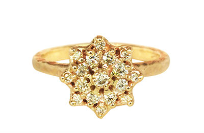 Vintage diamond ornate ring, hand made in Toronto
