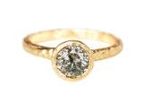 Alternative salt and pepper diamond engagement ring made in Toronto