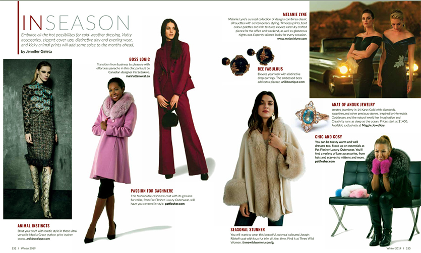 Blue Sapphire Halo ring made in Canada, featured in Luxe Ottawa magazine