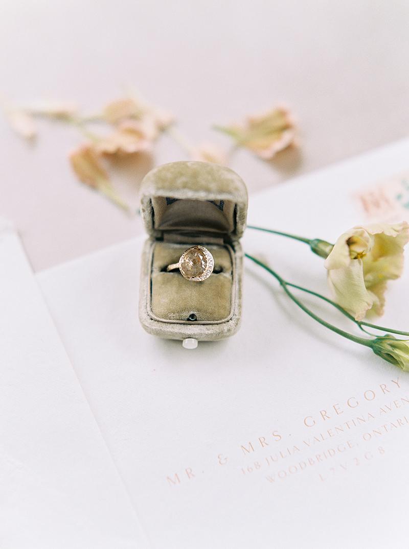 Raw Yellow Diamond ring made by hand in Toronto