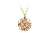 Gold Mandala inspired medallion necklace, made in Toronto