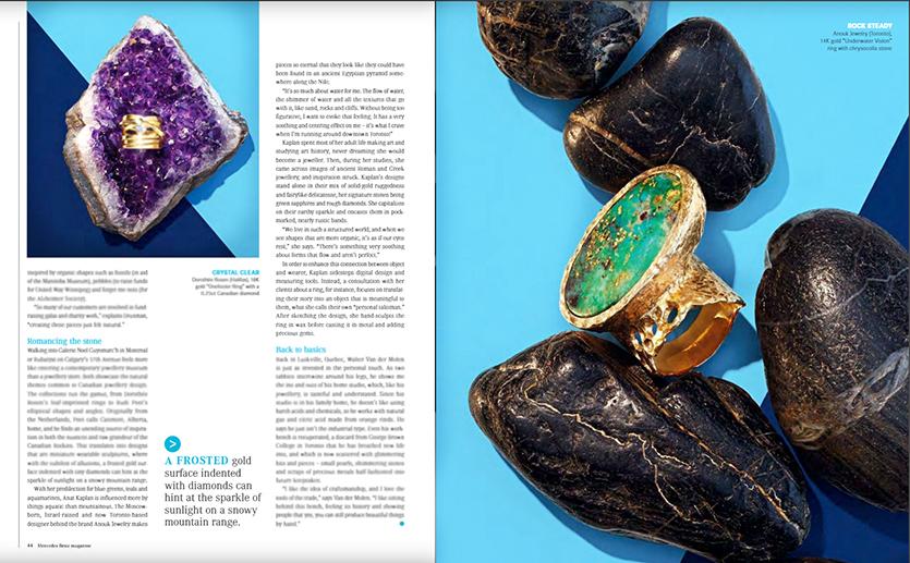 Anouk Jewelry chrysocolla statement  ring in Mercedez Benz Magazine