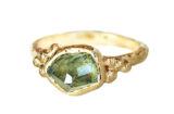Custom bespoke Montana Sapphire ring made in Toronto, Canada