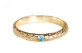 Seashore Stacking band with Blue Topaz