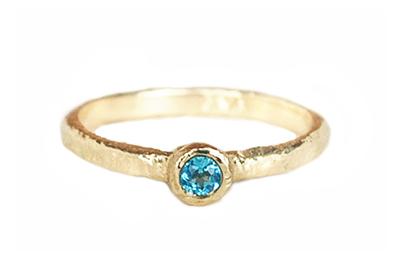 unique blue topaz gold ring