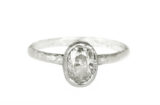 oval diamond white gold ring