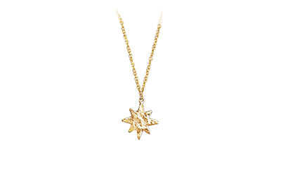 Little gold star necklace, made in Canada
