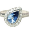 blue sapphire and diamond engagement ring