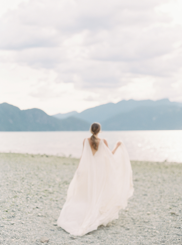Bride in Porteau Cove British Columbia Wedding Style